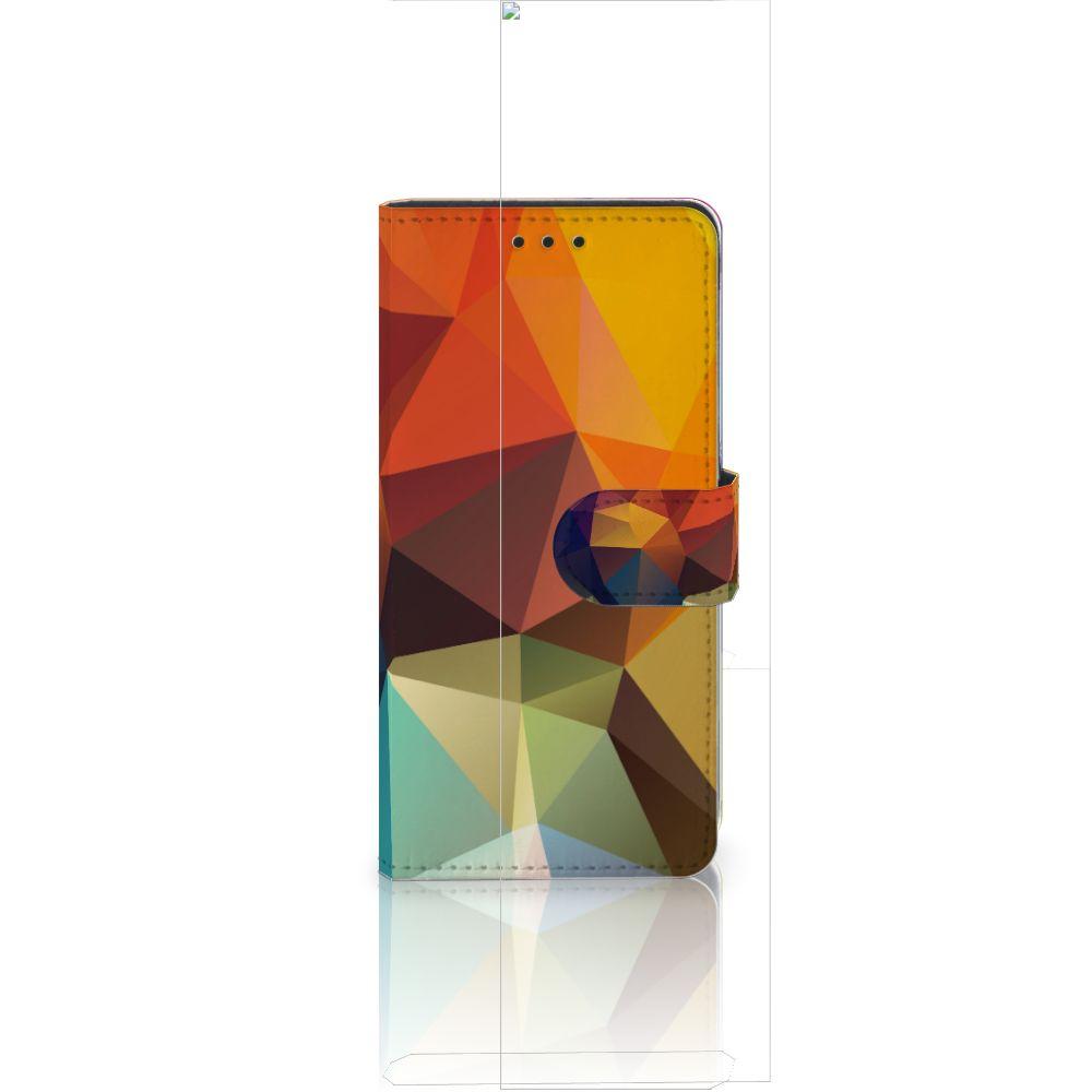 Huawei Ascend P8 Lite Bookcase Polygon Color