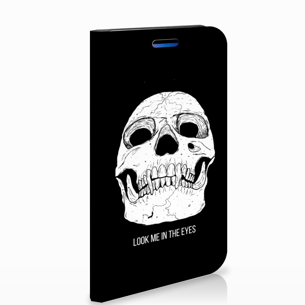 Apple iPhone X | Xs Uniek Standcase Hoesje Skull Eyes
