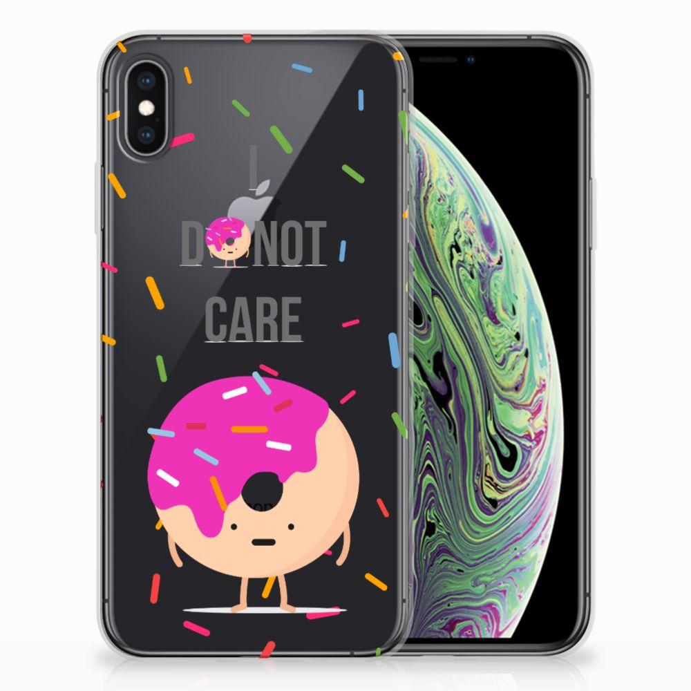 Apple iPhone Xs Max Siliconen Case Donut Roze