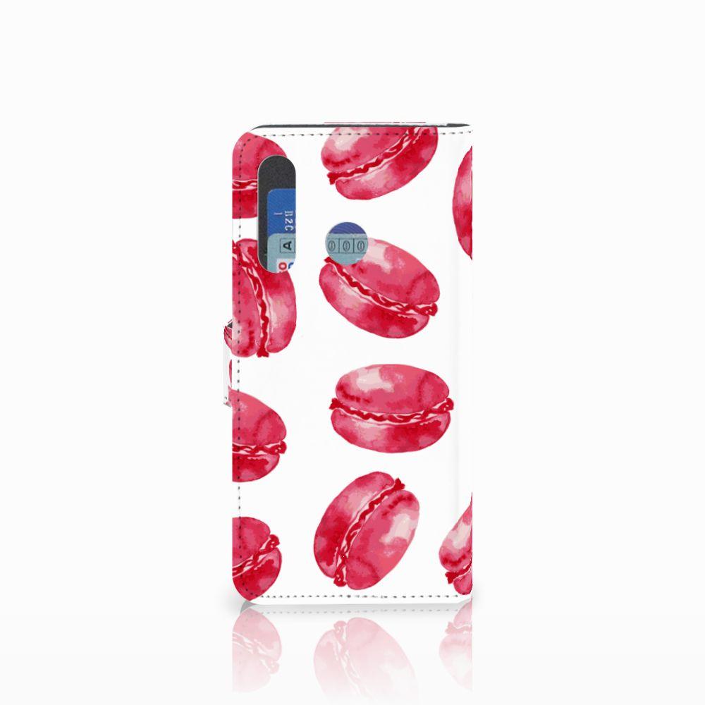 Huawei Nova 4 Book Cover Pink Macarons