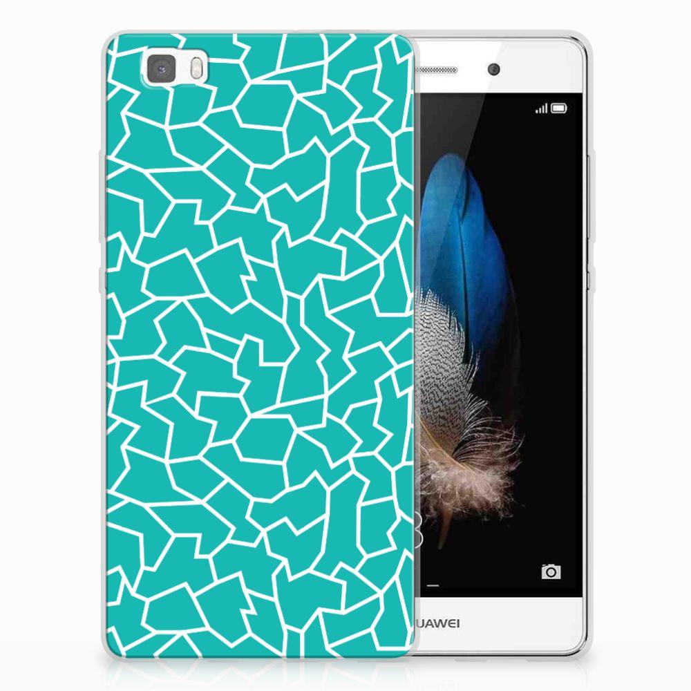 Huawei Ascend P8 Lite TPU Hoesje Design Cracks Blue