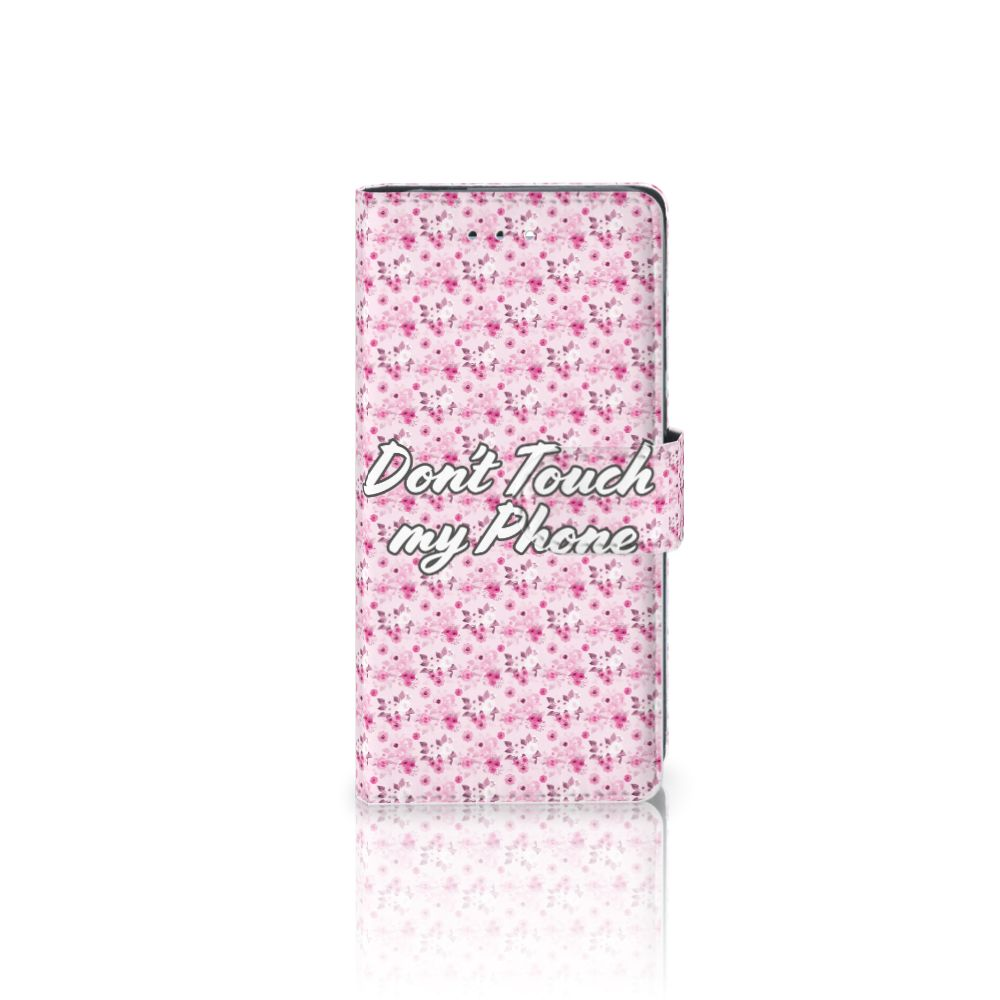 Huawei P9 Uniek Boekhoesje Flowers Pink DTMP