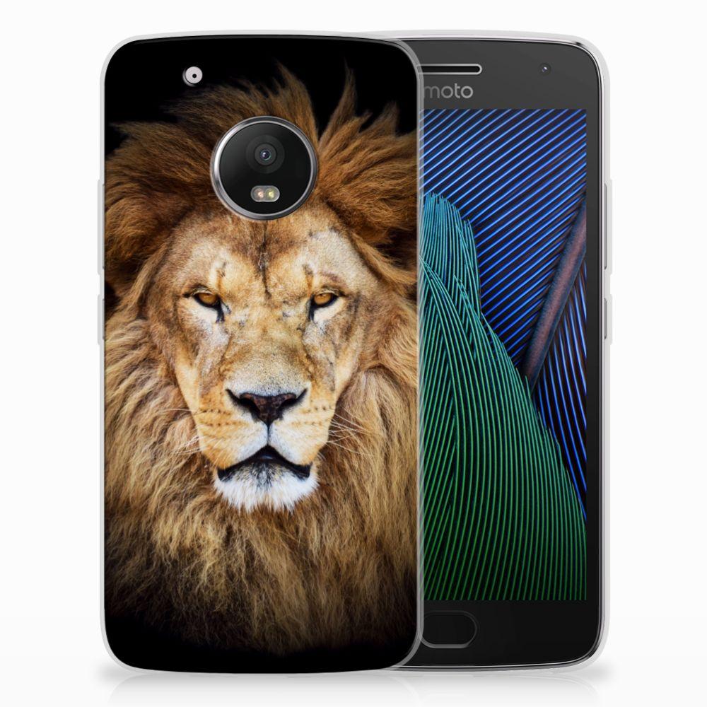 Motorola Moto G5 Plus TPU Hoesje Design Leeuw