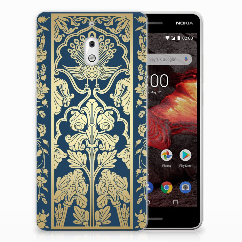 Nokia 2.1 (2018) TPU Case Golden Flowers