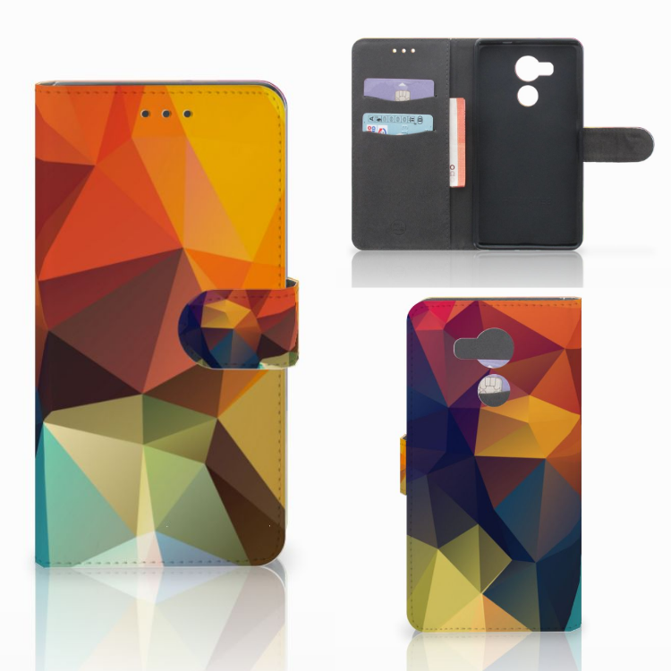 Huawei Mate 8 Bookcase Polygon Color