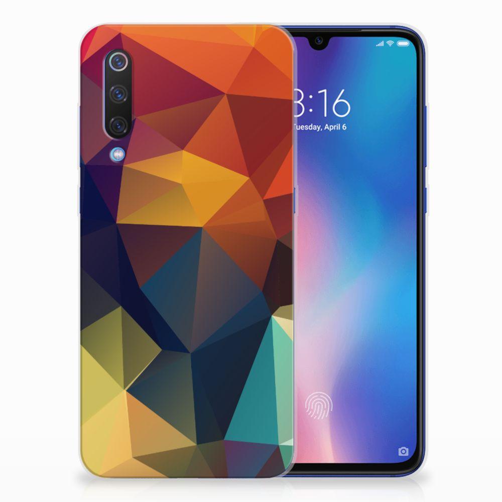 Xiaomi Mi 9 TPU Hoesje Polygon Color