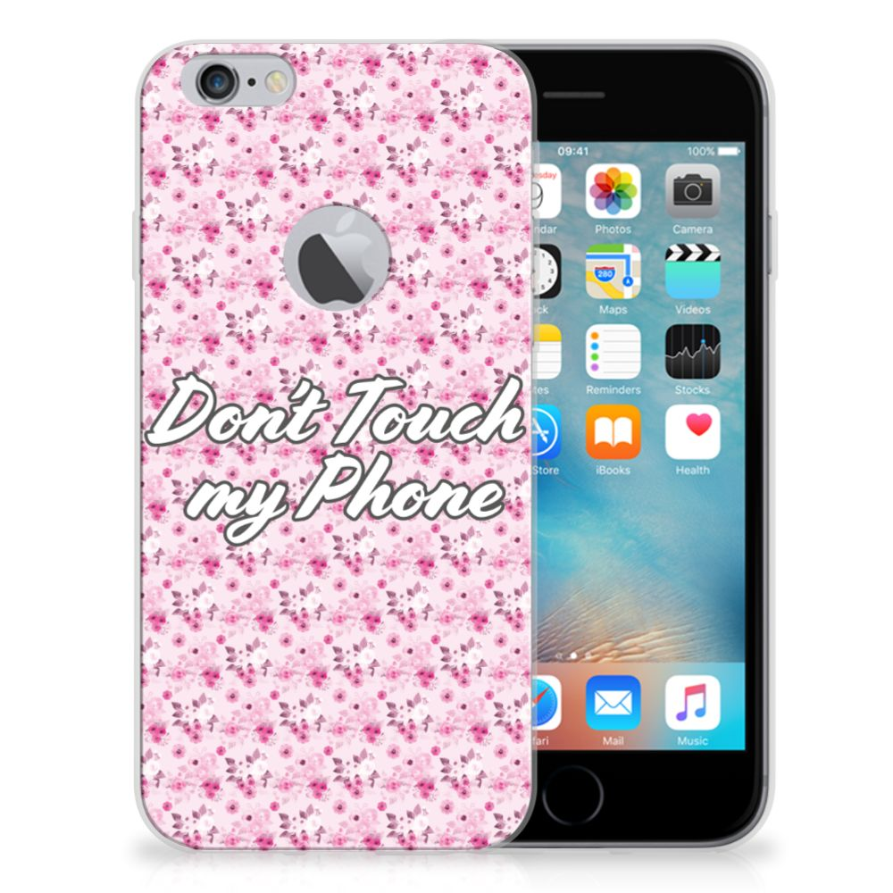 Apple iPhone 6 Plus | 6s Plus Silicone-hoesje Flowers Pink DTMP