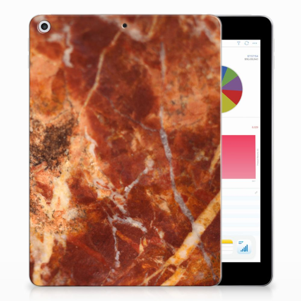 Apple iPad 9.7 2018 | 2017 Tablethoesje Design Marmer Bruin