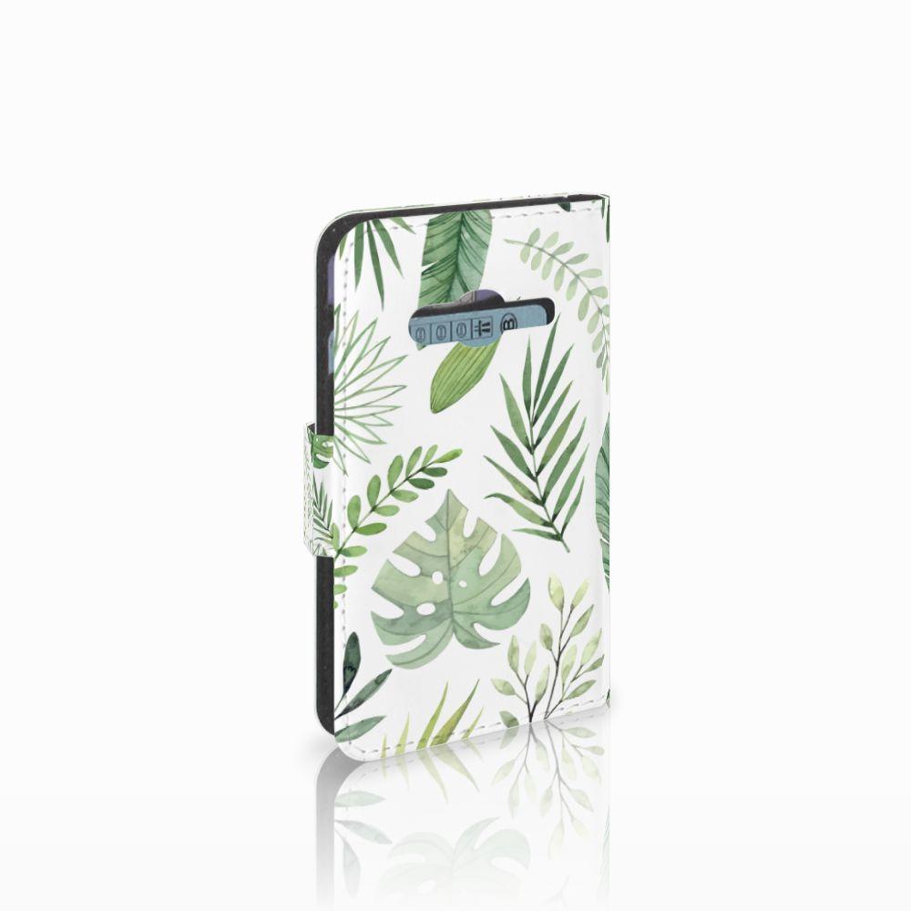 Samsung Galaxy Trend 2 Uniek Boekhoesje Leaves