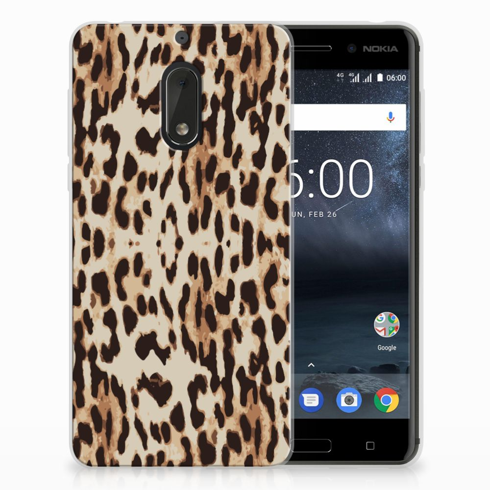 Nokia 6 Uniek TPU Hoesje Leopard