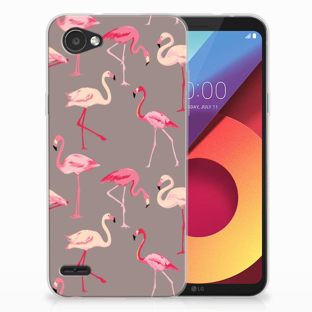 LG Q6 | LG Q6 Plus Uniek TPU Hoesje Flamingo