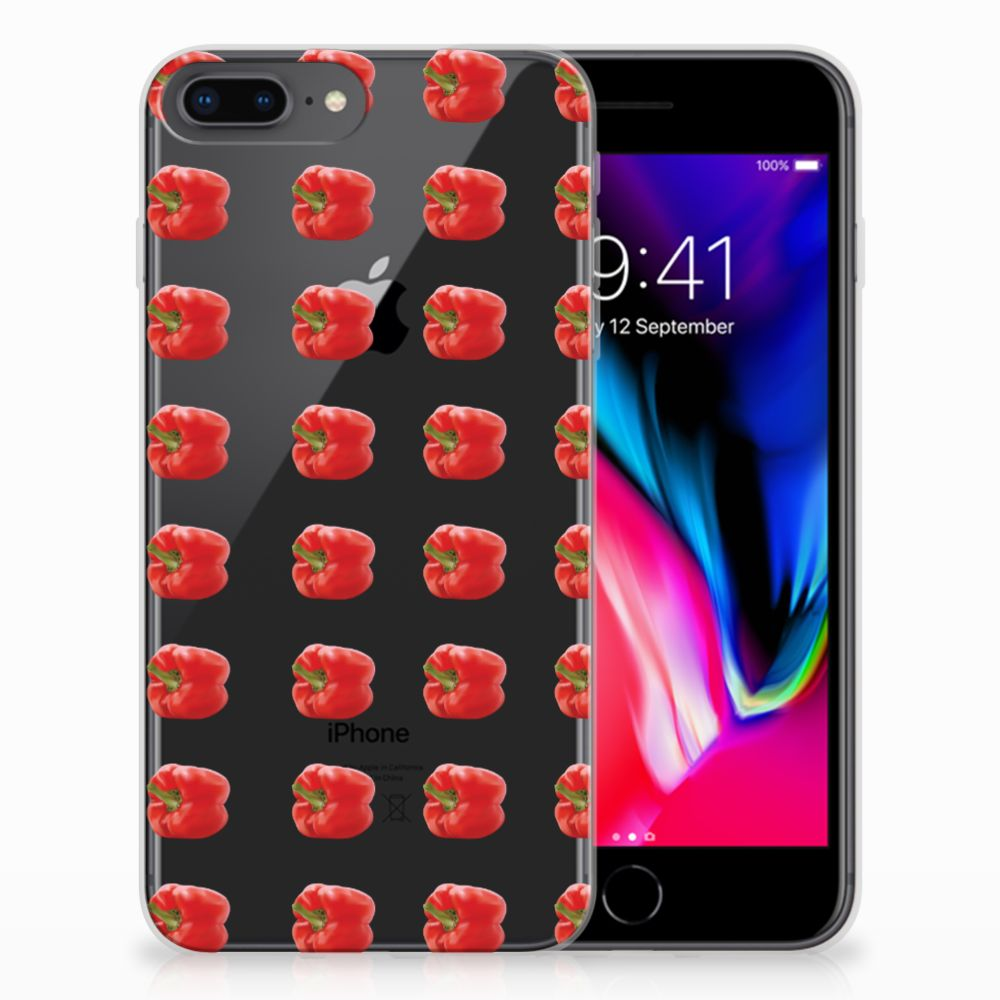 Apple iPhone 7 Plus | 8 Plus Siliconen Case Paprika Red