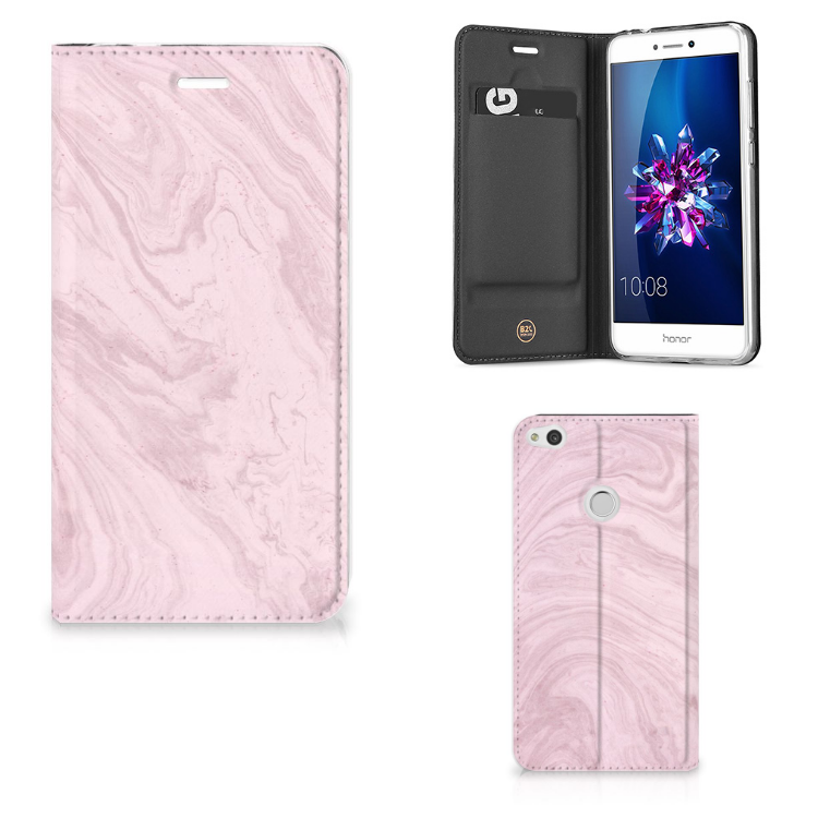 Huawei P8 Lite 2017 Standcase Marble Pink