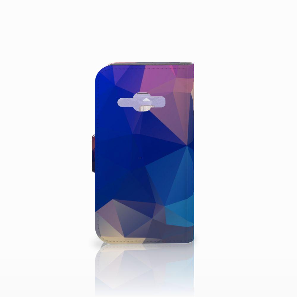 Samsung Galaxy J1 2016 Bookcase Polygon Dark