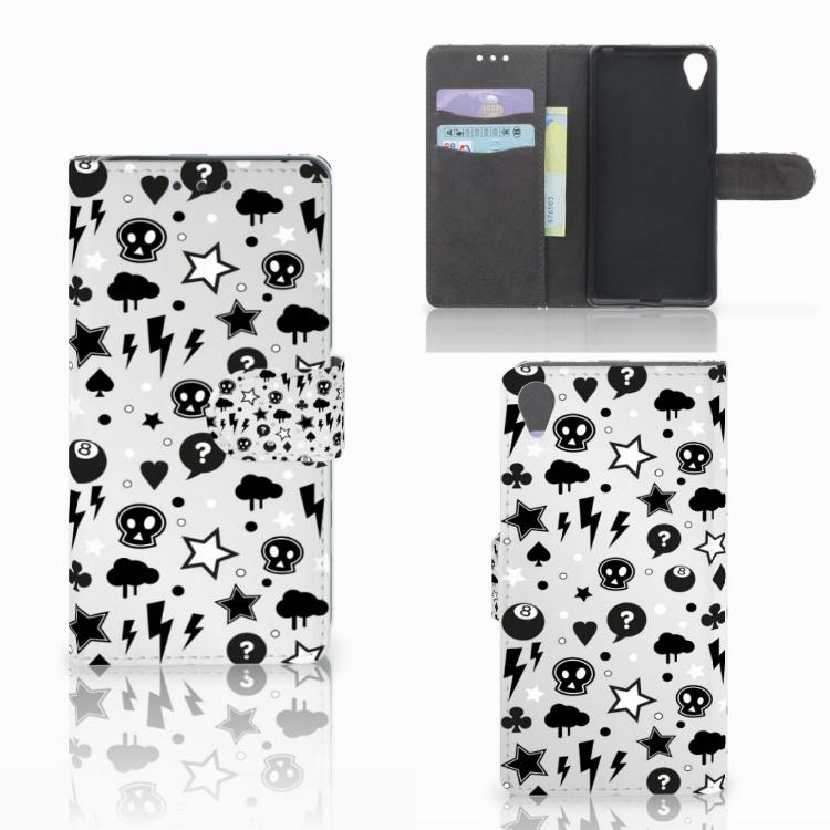 Telefoonhoesje met Naam Sony Xperia X Silver Punk