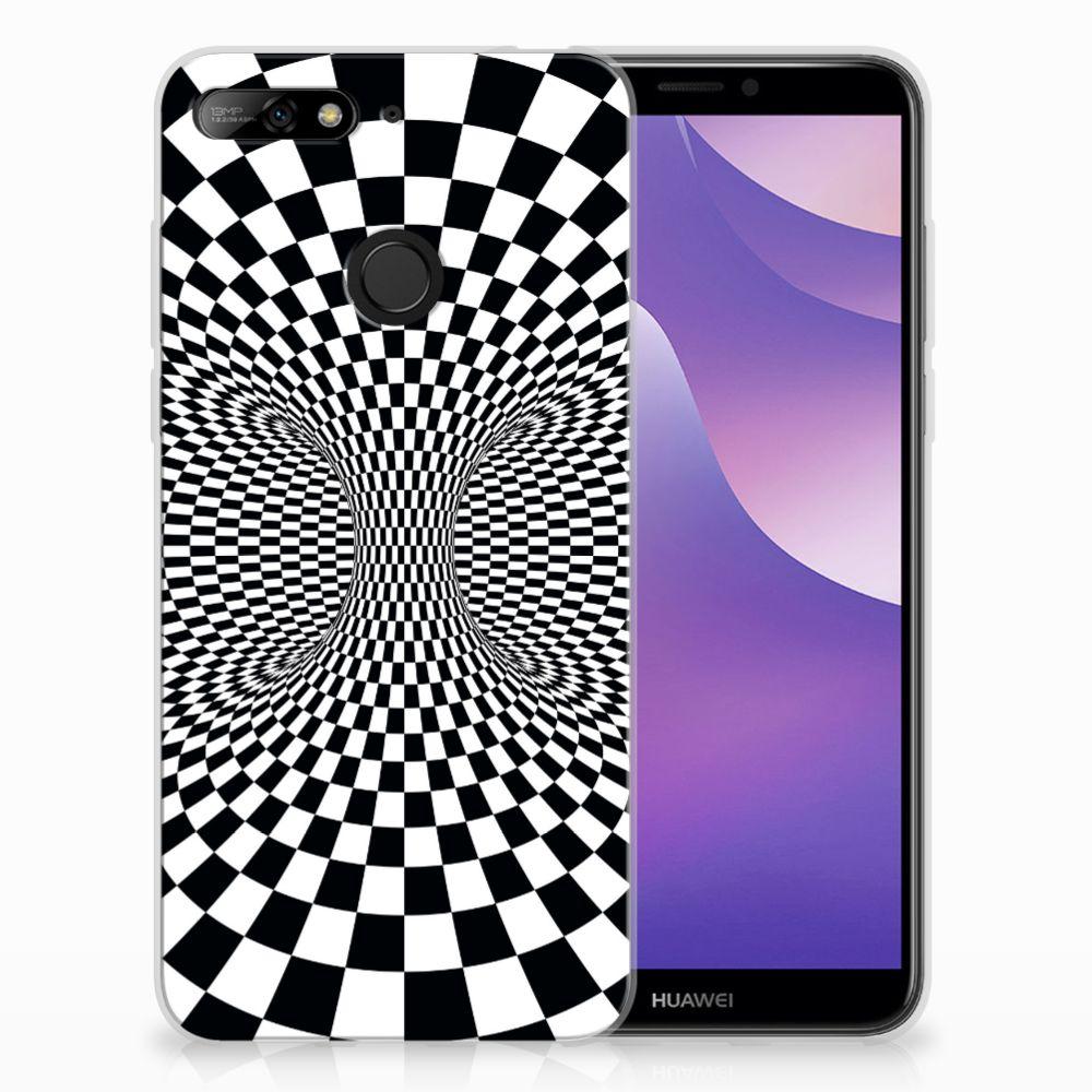 Huawei Y6 (2018) TPU Hoesje Design Illusie