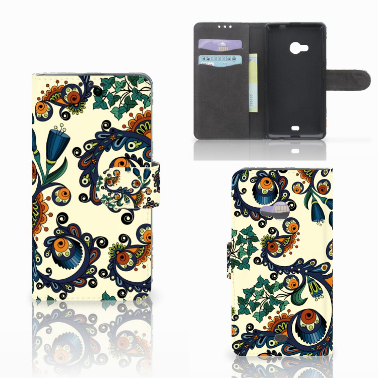 Wallet Case Microsoft Lumia 535 Barok Flower