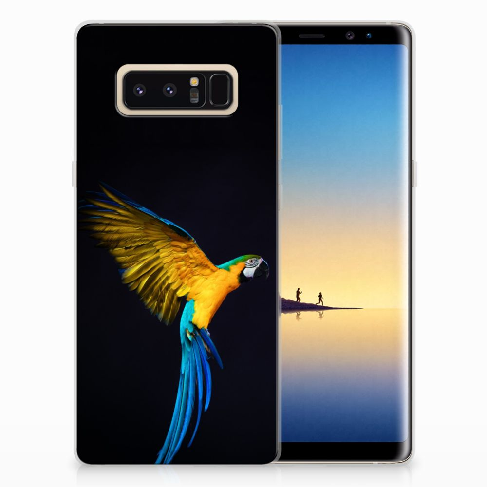 Samsung Galaxy Note 8 TPU Hoesje Papegaai