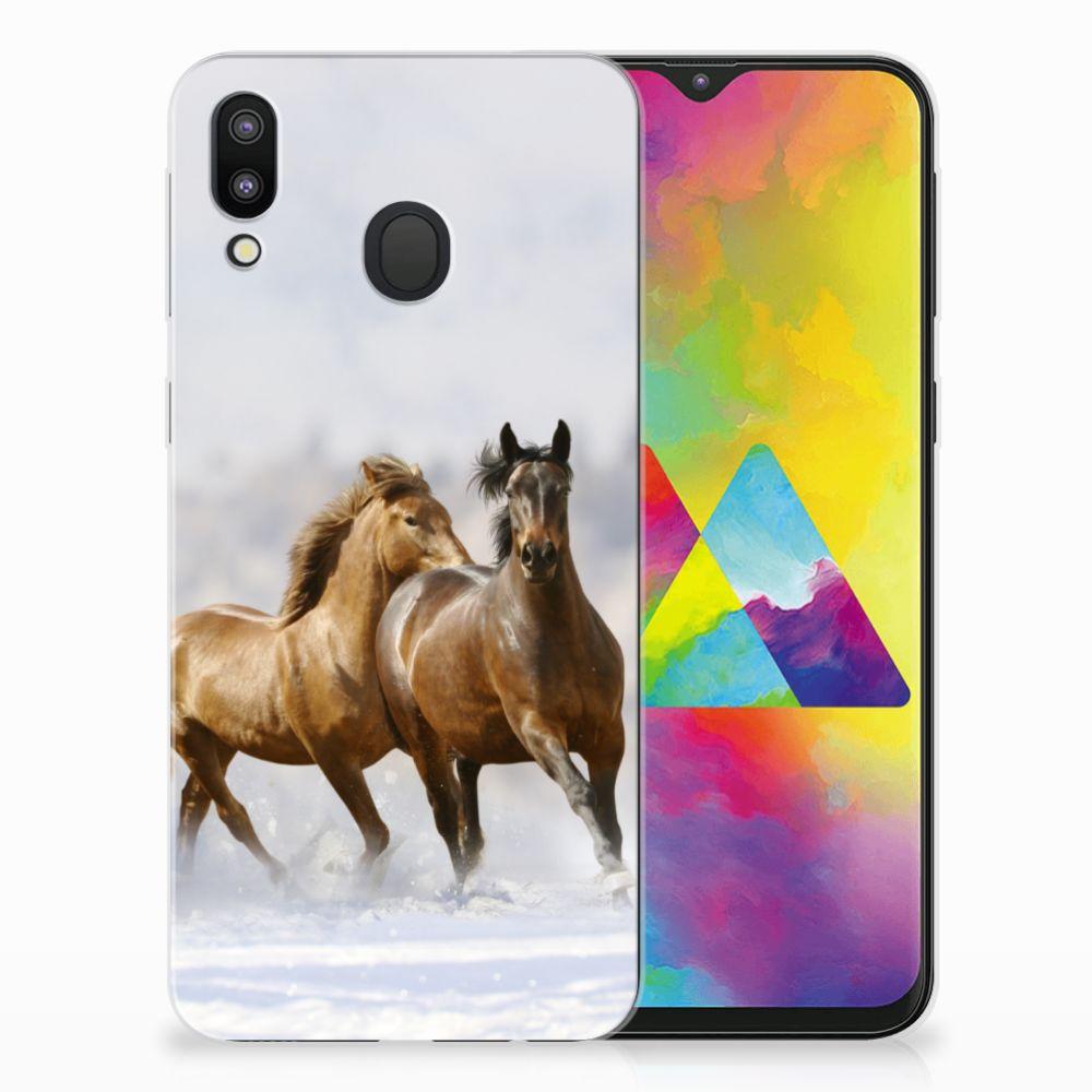 Samsung Galaxy M20 (Power) Leuk Hoesje Paarden