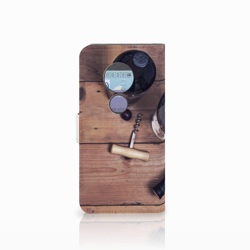 Motorola Moto G6 Play Book Cover Wijn