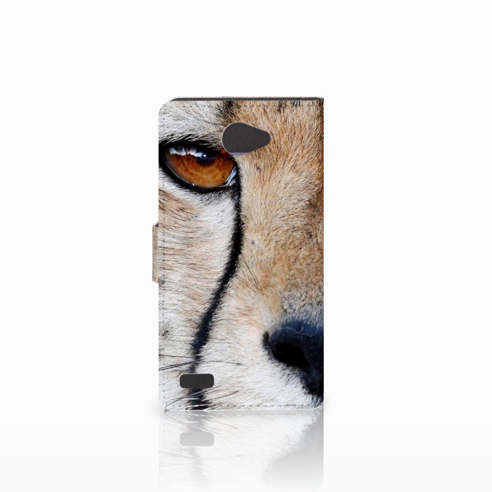 LG Bello 2 Telefoonhoesje met Pasjes Cheetah