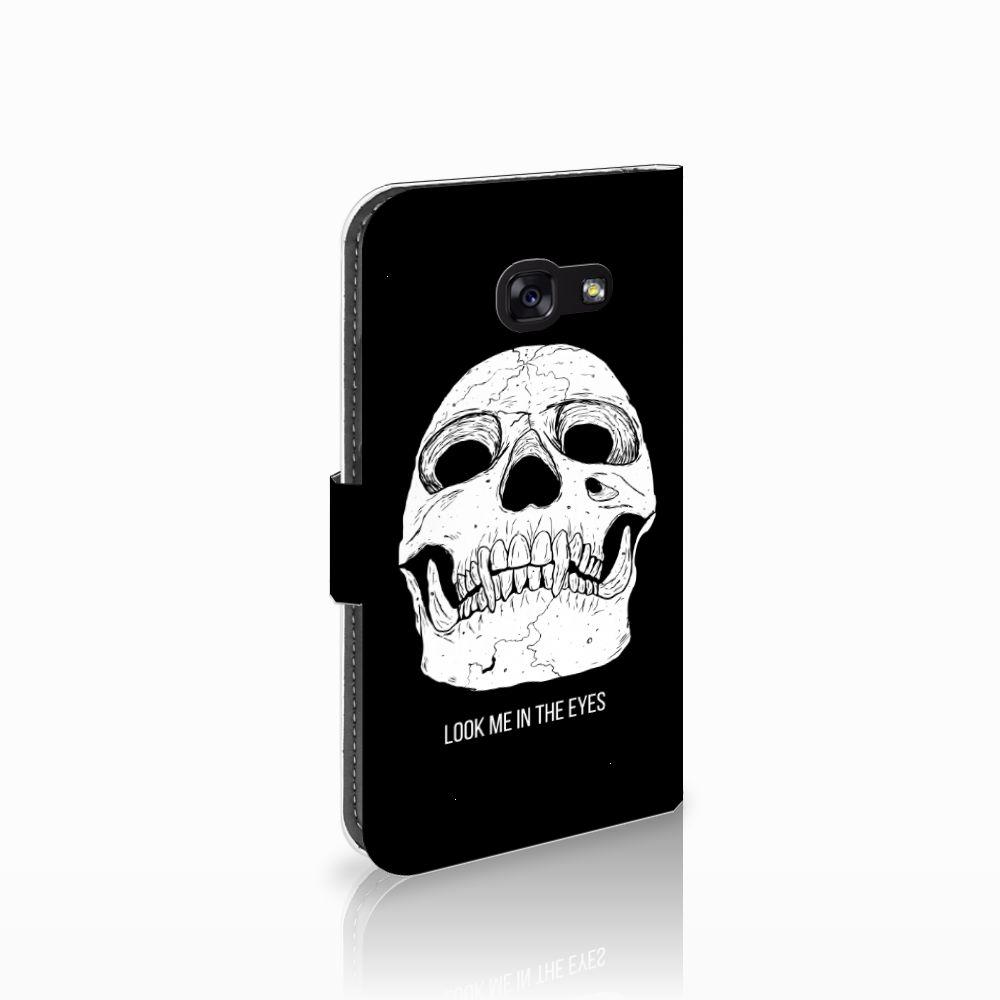 Samsung Galaxy A5 2017 Uniek Boekhoesje Skull Eyes
