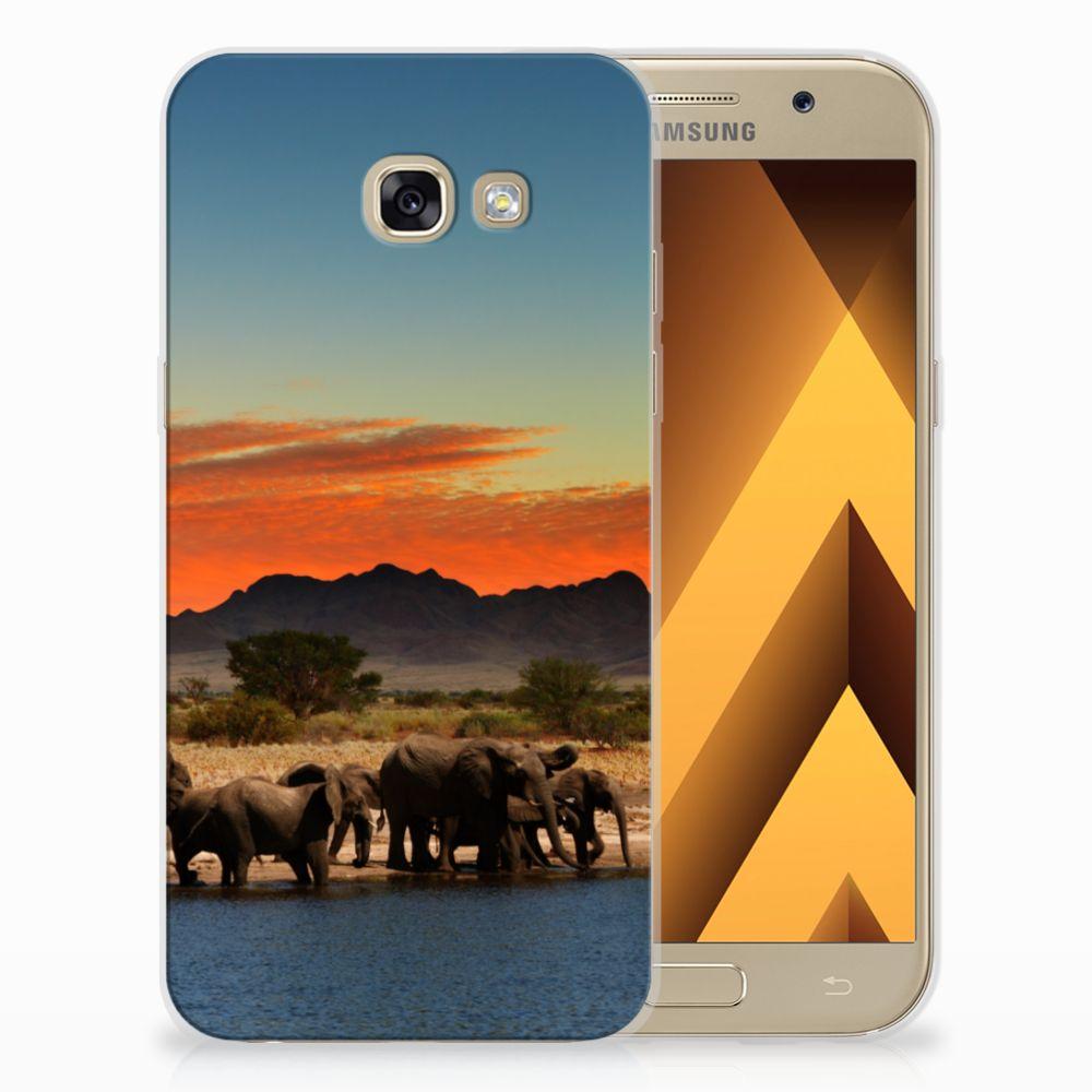 Samsung Galaxy A5 2017 TPU Hoesje Design Olifanten