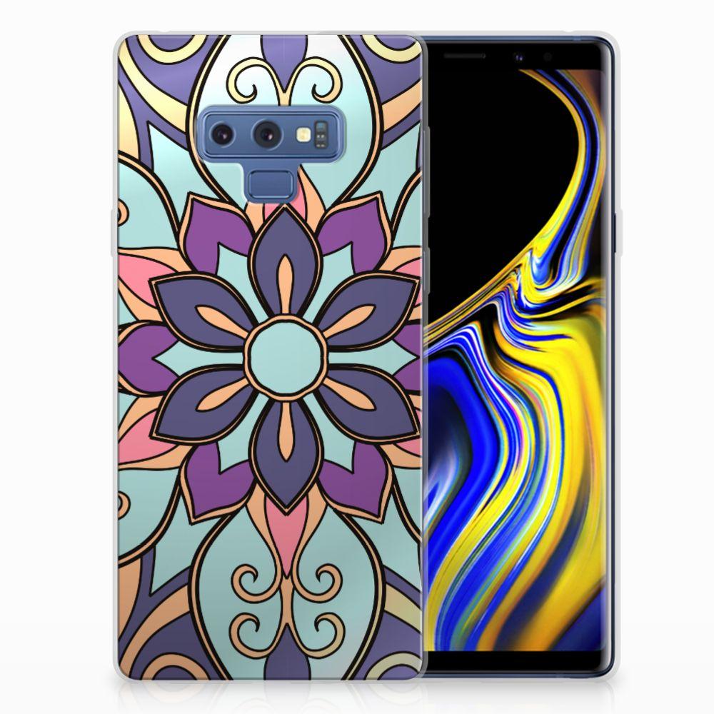 Samsung Galaxy Note 9 TPU Hoesje Design Purple Flower