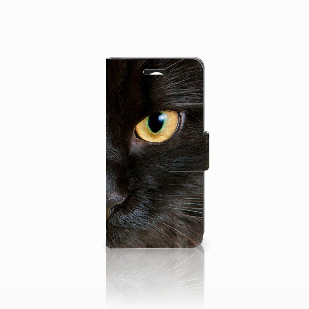 Huawei Y3 2 | Y3 II Uniek Boekhoesje Zwarte Kat