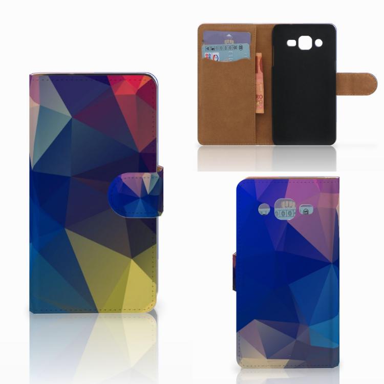 Samsung Galaxy J2 (2015) Bookcase Polygon Dark