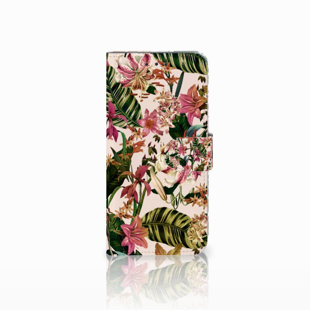 Motorola Moto G6 Play Uniek Boekhoesje Flowers