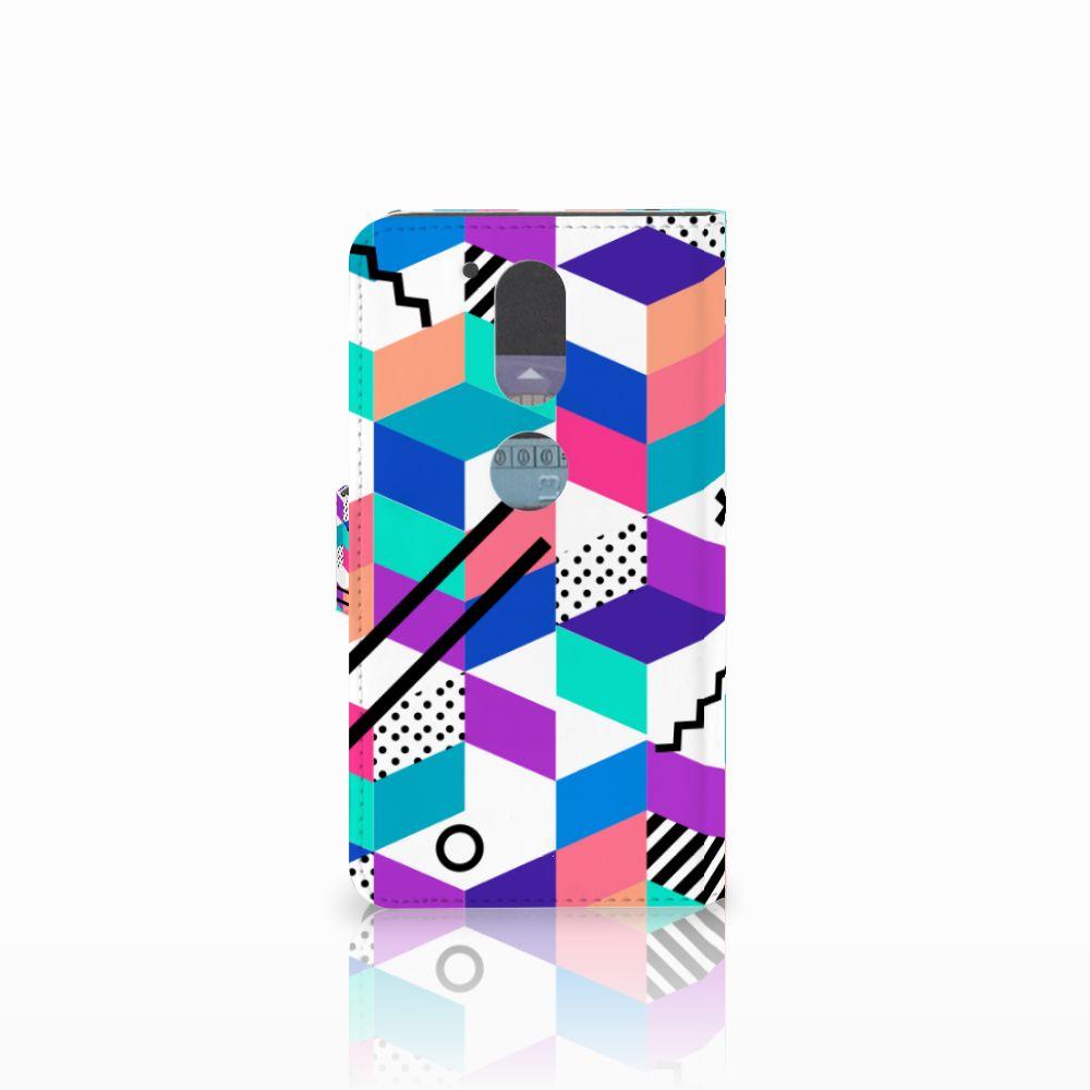 Motorola Moto G4 | G4 Plus Bookcase Blokken Kleurrijk