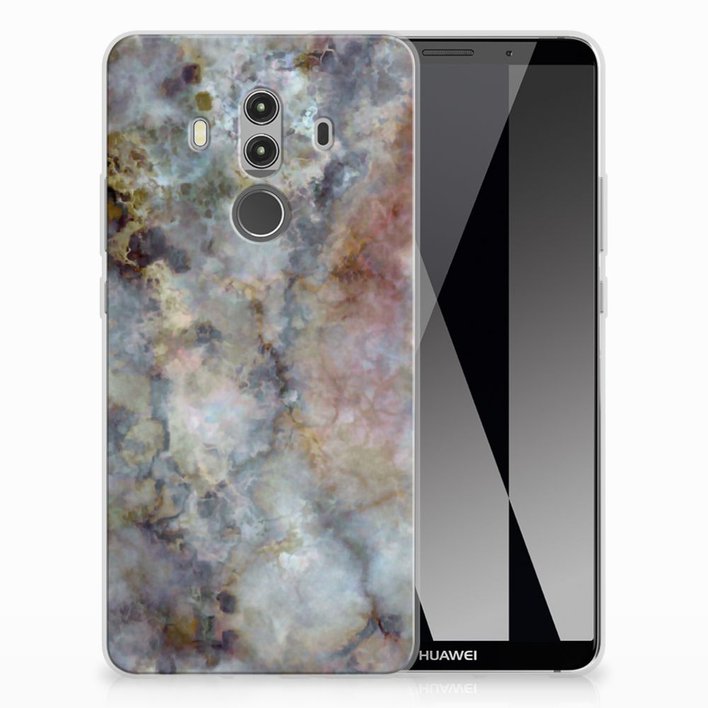 Huawei Mate 10 Pro TPU Siliconen Hoesje Marmer Grijs