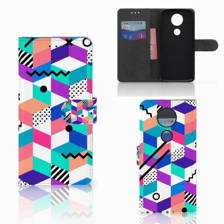 Motorola Moto E5 Plus Bookcase Blokken Kleurrijk