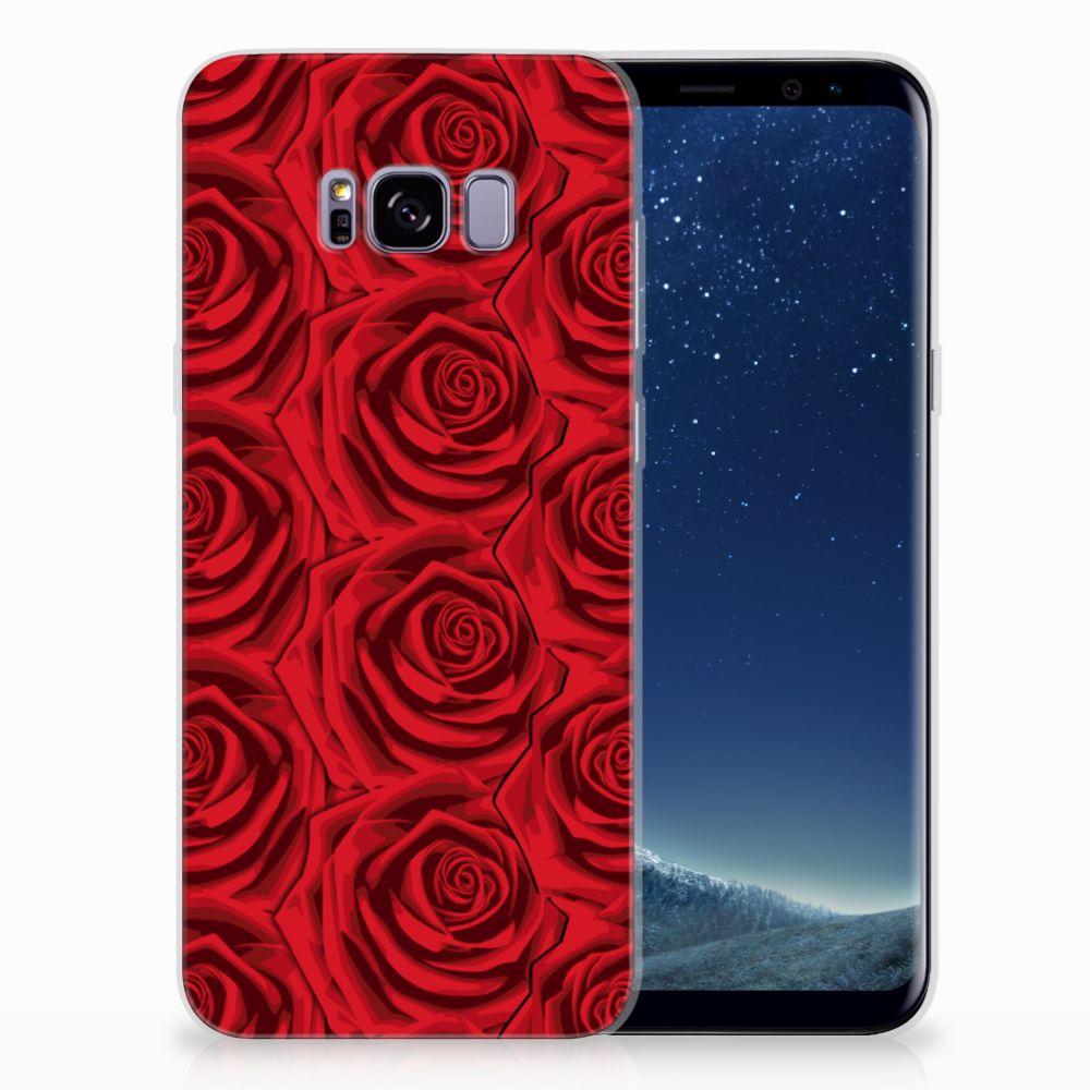 Samsung Galaxy S8 Plus Uniek TPU Hoesje Red Roses