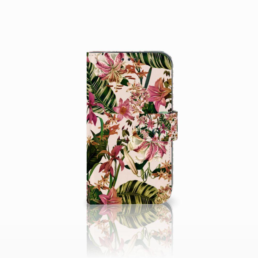 Samsung Galaxy Xcover 4 Uniek Boekhoesje Flowers
