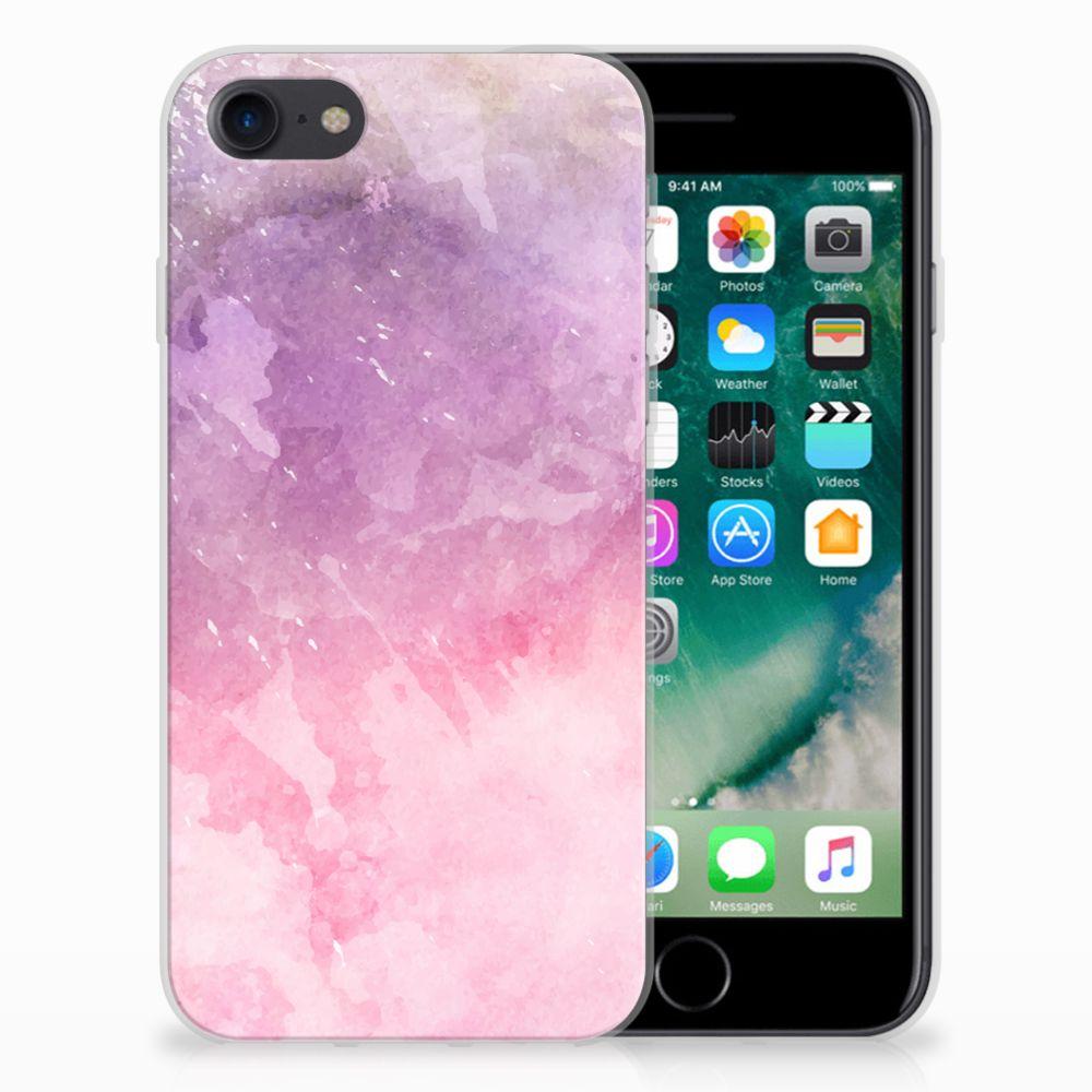 Hoesje maken Apple iPhone 7 | 8 Pink Purple Paint