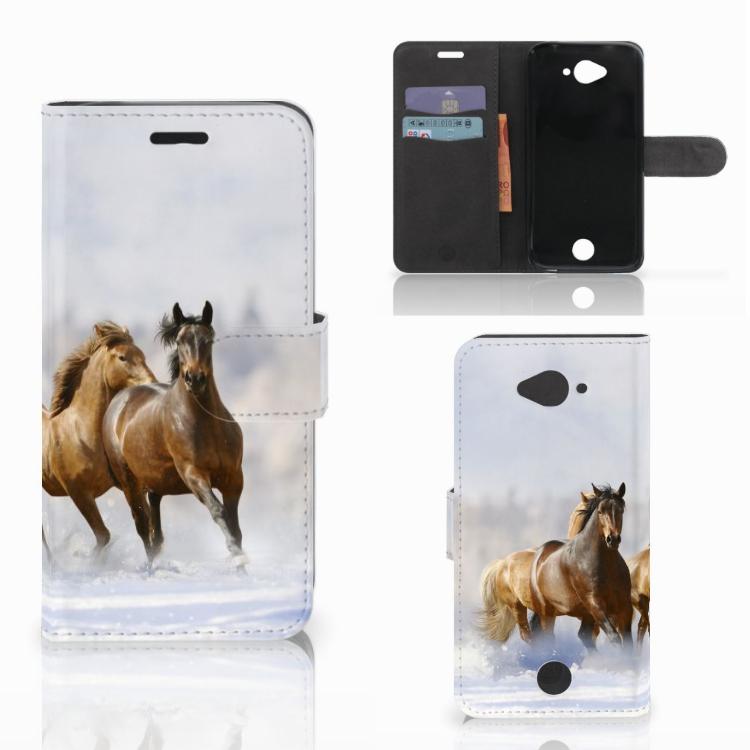 Acer Liquid Z530 | Z530s Telefoonhoesje met Pasjes Paarden