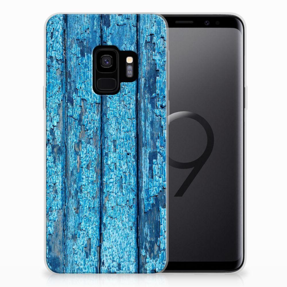 Samsung Galaxy S9 Bumper Hoesje Wood Blue