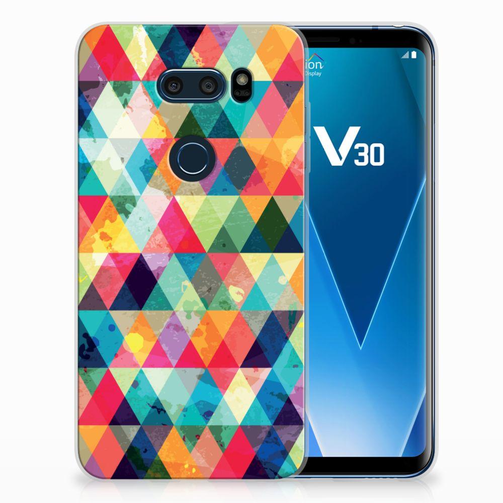 LG V30 TPU bumper Geruit