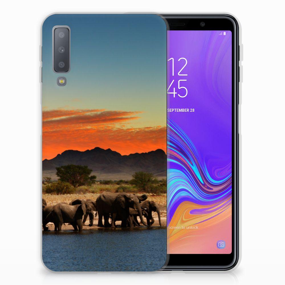 Samsung Galaxy A7 (2018) TPU Hoesje Olifanten