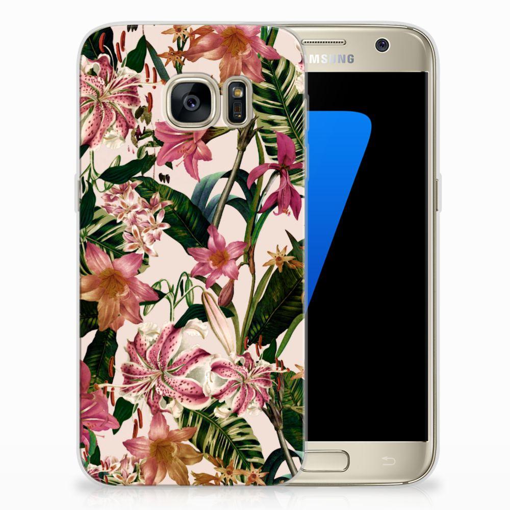 Samsung Galaxy S7 Uniek TPU Hoesje Flowers