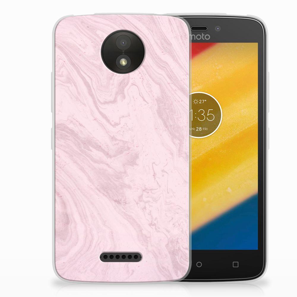 Motorola Moto C Plus TPU Hoesje Marble Pink