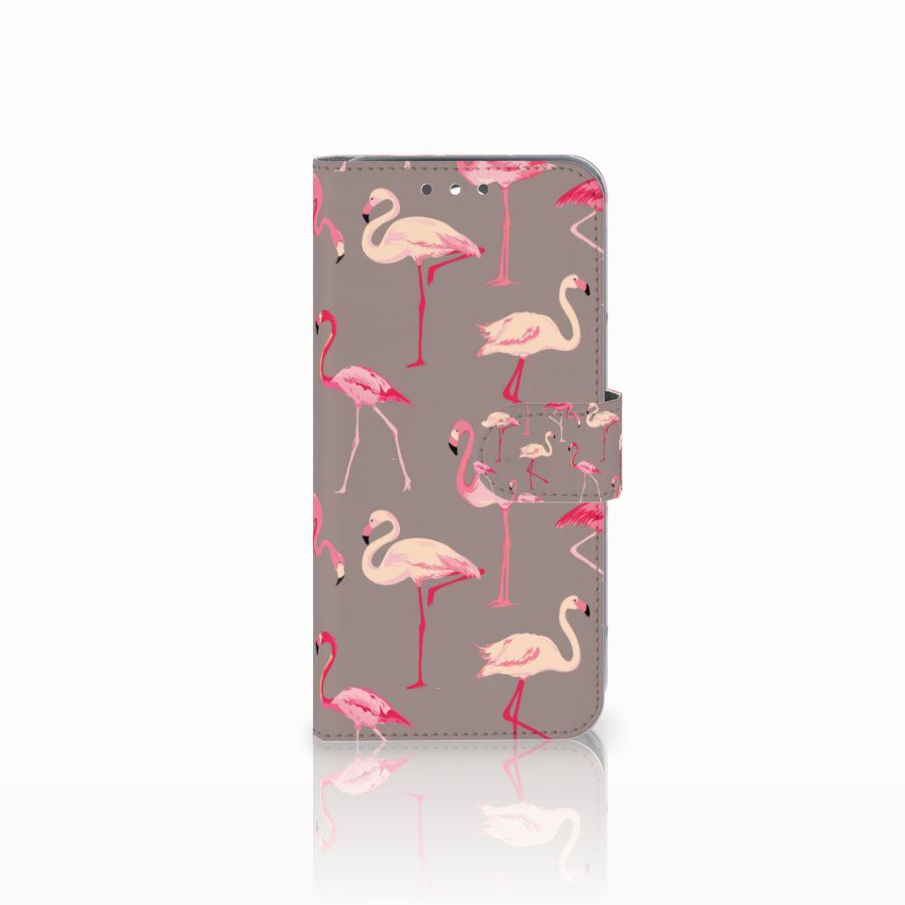 Wiko Wim Uniek Boekhoesje Flamingo