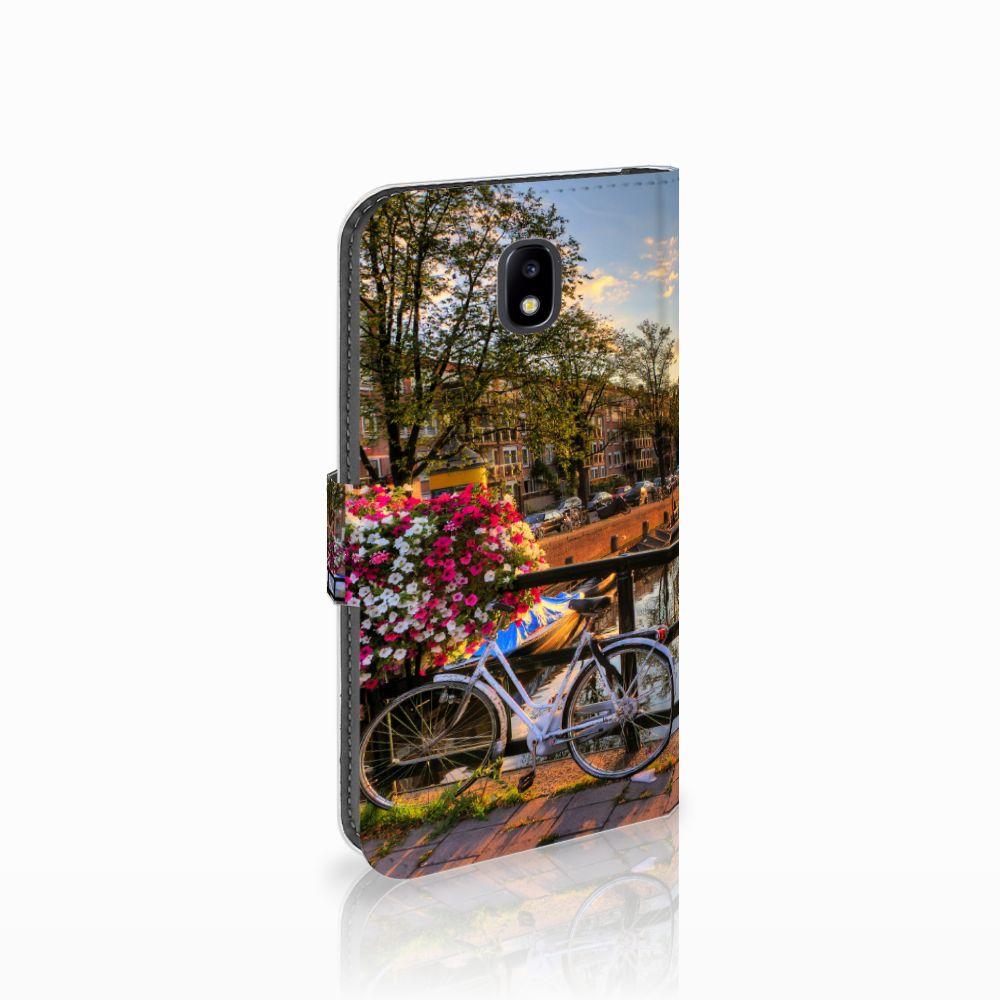 Samsung Galaxy J5 2017 Uniek Boekhoesje Amsterdamse Grachten