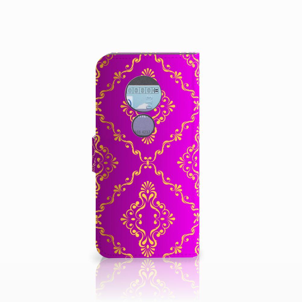 Wallet Case Motorola Moto G6 Play Barok Roze