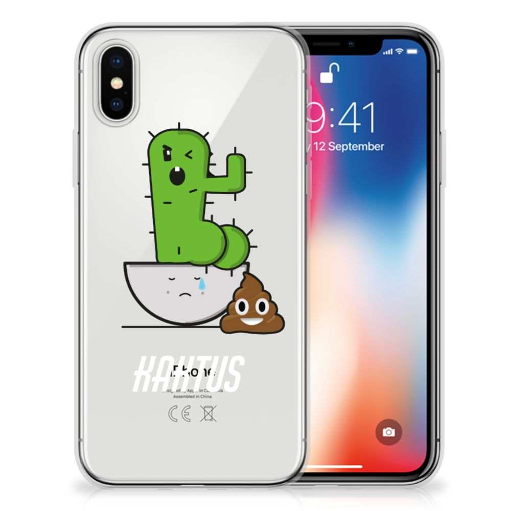 Apple iPhone X | Xs Uniek TPU Hoesje Cactus Poo