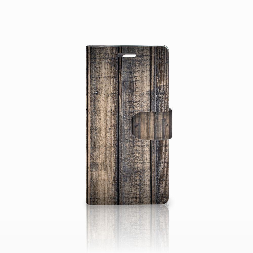 LG K10 2015 Boekhoesje Design Steigerhout