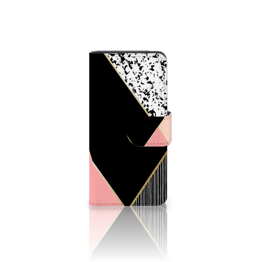 Samsung Galaxy S5 Mini Boekhoesje Black Pink Shapes