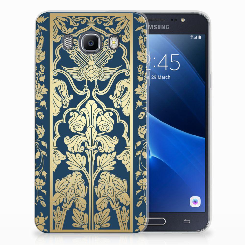 Samsung Galaxy J7 2016 TPU Hoesje Golden Flowers